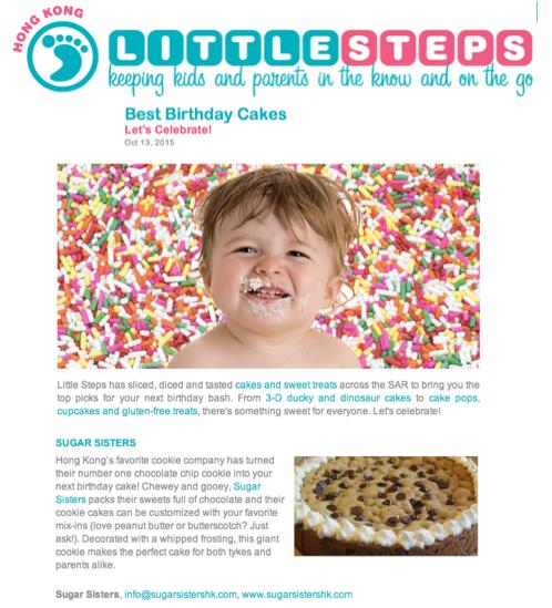 Little Steps Best Birthday Cakes Sugar Sisters HK
