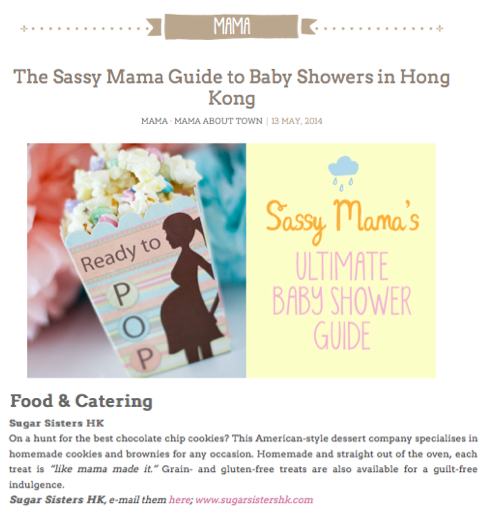 Sassy Mama baby showers Sugar Sisters Hong Kong cookies