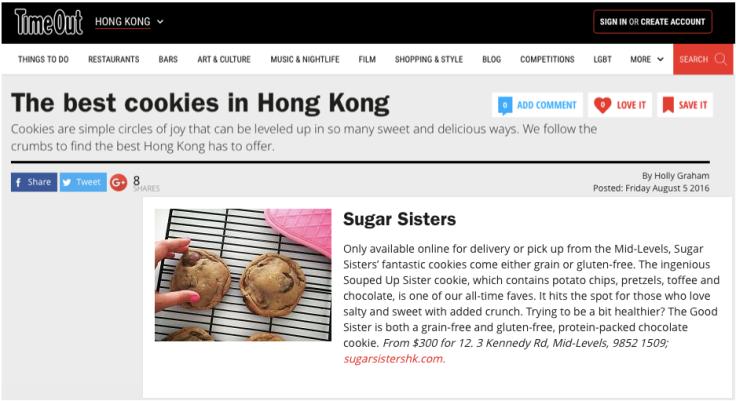 Best cookies in Hong Kong Sugar Sisters